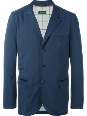 Блейзер с карманами Loro Piana. Цвет: синий