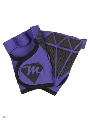 Спортивные перчатки для фитнеса DIAMONDS Malinasport. Цвет: индиго