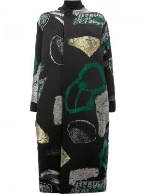 Пальто с абстрактным принтом Toogood. Цвет: чёрный