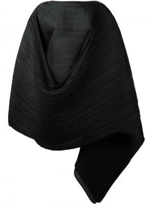 Плиссированный шарф Pleats Please By Issey Miyake. Цвет: чёрный