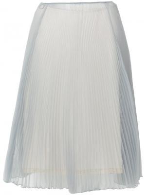 Плиссированная юбка Prada. Цвет: серый