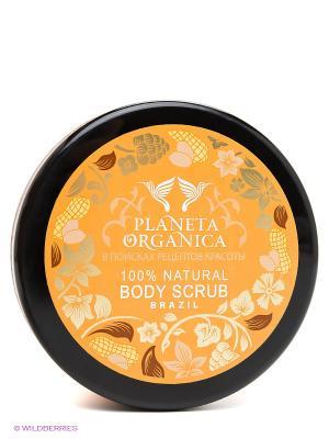 Скраб для тела бразильский арахис и органическое масло нероли 300 мл. PLANETA ORGANICA. Цвет: оранжевый