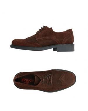Обувь на шнурках ZEN. Цвет: темно-коричневый