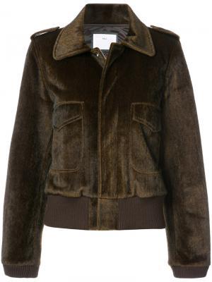 Куртка на молнии Toga. Цвет: коричневый