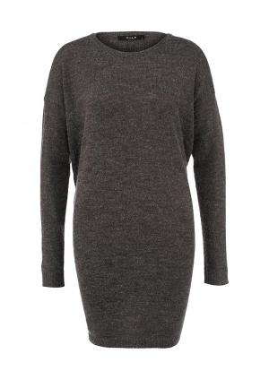Платье Vila. Цвет: серый