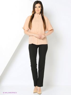 Блузка Valeria Lux 72190. Цвет: бежевый