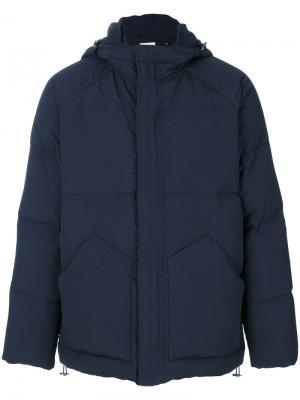 Стеганое пальто с карманами спереди Bellerose. Цвет: синий