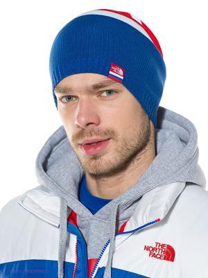 Шапка The North Face. Цвет: синий, красный, белый