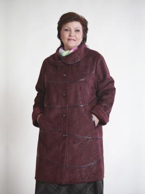 Пальто Кимберли VIKO. Цвет: темно-красный
