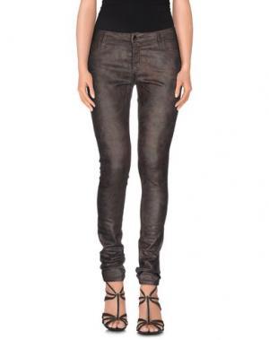 Джинсовые брюки 75 FAUBOURG. Цвет: темно-коричневый