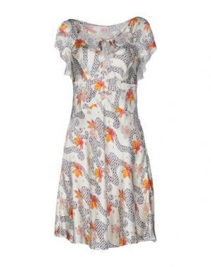 Короткое платье NOLITA. Цвет: слоновая кость