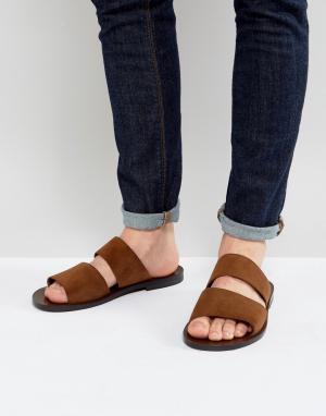 ALDO Замшевые сандалии с двумя ремешками Priour. Цвет: рыжий
