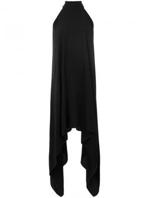 Платье с каскадным подолом Gareth Pugh. Цвет: чёрный
