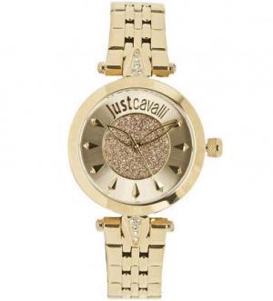 Часы с золотистым металлическим браслетом Just Cavalli