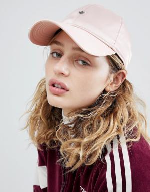 Adidas Originals Розовая атласная кепка. Цвет: розовый
