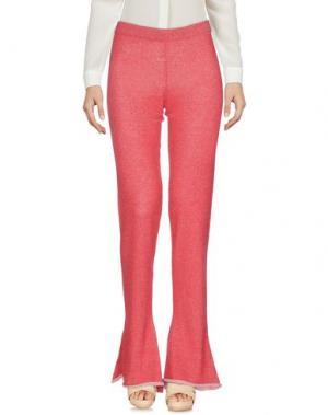 Повседневные брюки DEVOTION. Цвет: красный