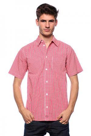 Рубашка  Brenham Fiery Red Dickies. Цвет: красный,белый