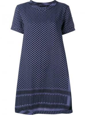 Платье свободного кроя Cecilie Copenhagen. Цвет: синий
