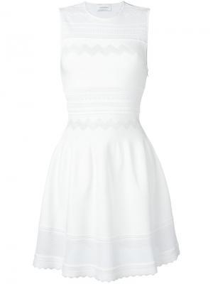 Короткое приталенное платье Zuhair Murad. Цвет: белый