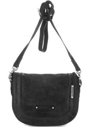 Замшевая сумка через плечо Tyoulip Sisters. Цвет: черный