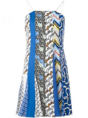 Платье на бретельках с узором Kenzo. Цвет: синий