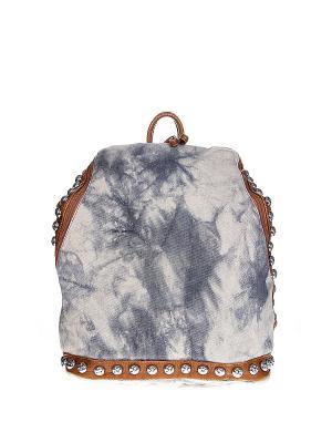 Рюкзак Happy Charms Family. Цвет: голубой, бежевый, коричневый