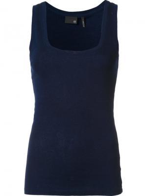 Майка с U-образным вырезом Ag Jeans. Цвет: синий
