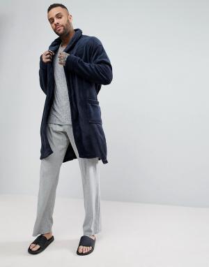 New Look Темно-синий халат. Цвет: темно-синий