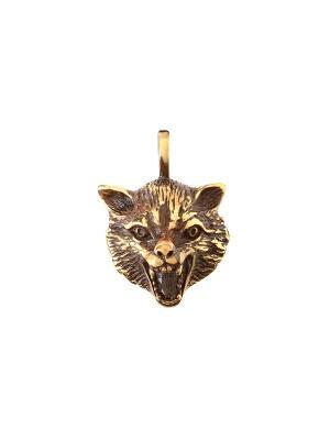 Амулет защитный Знак волка Aztek. Цвет: желтый