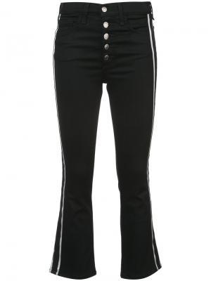 Расклешенные джинсы с лампасами Veronica Beard. Цвет: чёрный