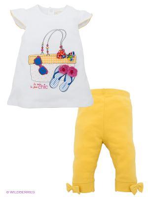 Комплект Bimbalina. Цвет: желтый, белый