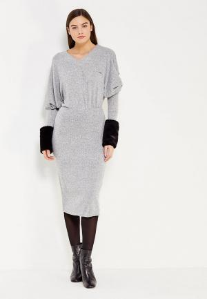 Платье Met. Цвет: серый