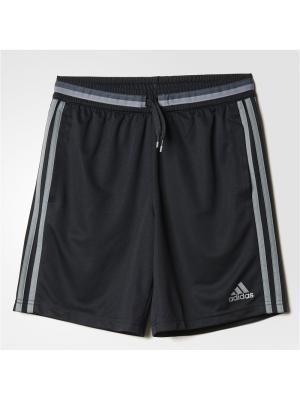 Спортивные шорты (трикотаж) дет. CON16 TRG SHO Y  BLACK/VISGRE Adidas. Цвет: черный, серый
