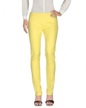 Повседневные брюки CRISTINAEFFE. Цвет: желтый