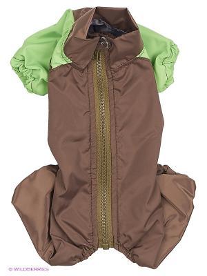 Комбинезон холодный на шелке (Йоркширский терьер №1), девочка ТУЗИК. Цвет: темно-зеленый