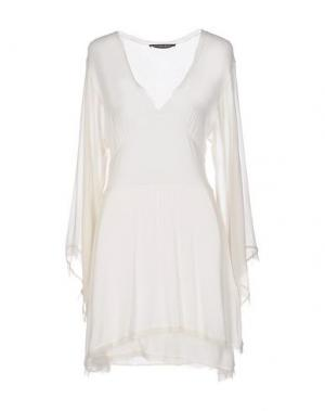 Короткое платье LOVE SEX MONEY. Цвет: белый