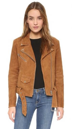 Замшевая куртка Jayne VEDA. Цвет: коричневый