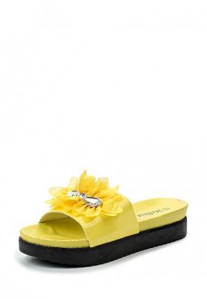 Шлепанцы Mellisa. Цвет: желтый