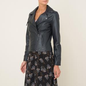 Блузон кожаный на молнии CLIP OAKWOOD. Цвет: красный,темно-синий,черный