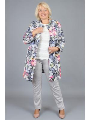 Пальто NadiN. Цвет: серый, малиновый