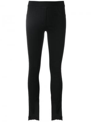 Состаренные брюки слим 8pm. Цвет: чёрный