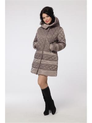 Пальто DizzyWay. Цвет: серо-коричневый