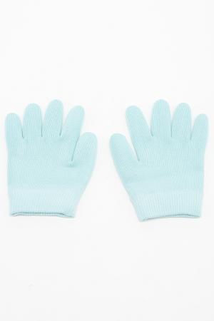 Увлажняющие перчатки и носки Medolla. Цвет: светло-голубой