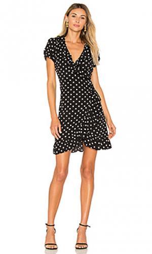 Платье с запахом birkin LIONESS. Цвет: черный