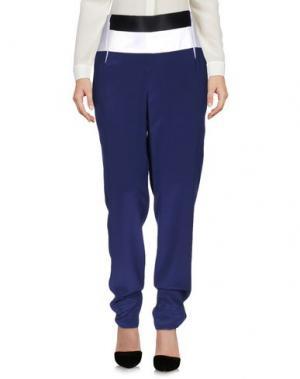 Повседневные брюки PRABAL GURUNG. Цвет: темно-синий