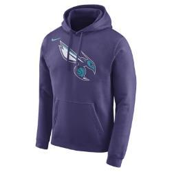 Мужская флисовая худи НБА Charlotte Hornets Nike. Цвет: пурпурный