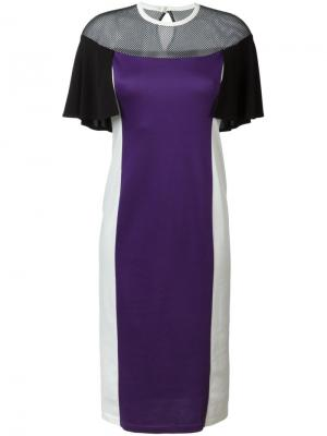 Платье колор-блок Mame. Цвет: розовый и фиолетовый