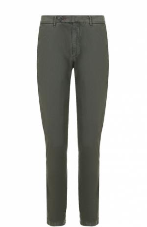 Хлопковые брюки чинос 7 For All Mankind. Цвет: хаки