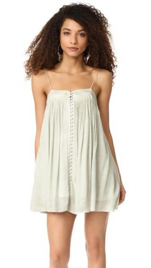 Платье YFB Clothing Bevy Young Fabulous & Broke. Цвет: зеленый
