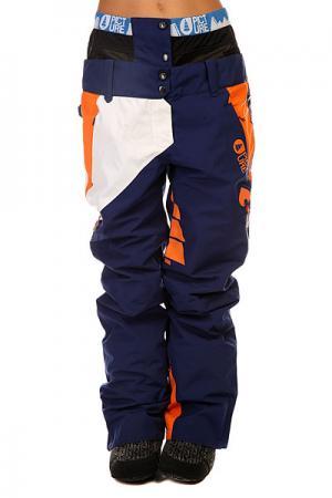 Штаны сноубордические женские  Feeling 2 Dark Blue Picture Organic. Цвет: синий,оранжевый,белый